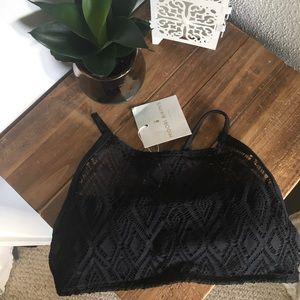 Black Indie Lace bikini top
